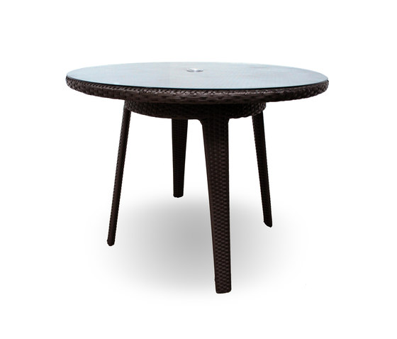 Senna 40 Round Dining Table With Tempered Glass Top Dining Tables From Kannoa Architonic