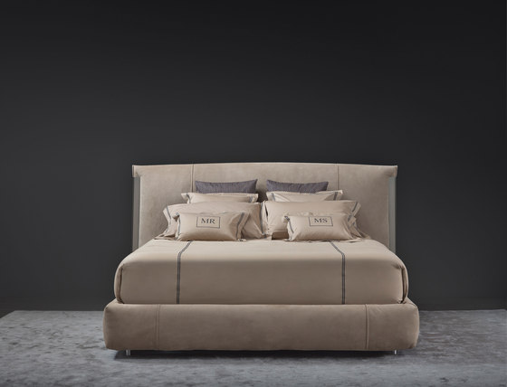 Amal Double-size bed by Flou | Double beds