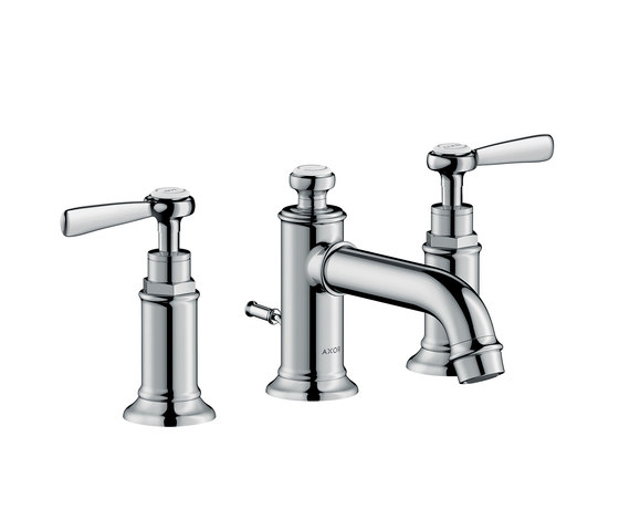 AXOR Montreux 3-hole basin mixer 30 with pop-up waste set and lever handles by AXOR | Wash basin taps