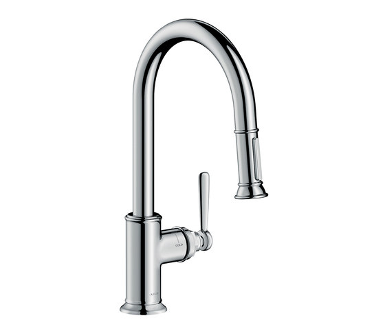 AXOR Montreux Single lever kitchen mixer with pull-out spray by AXOR | Kitchen taps