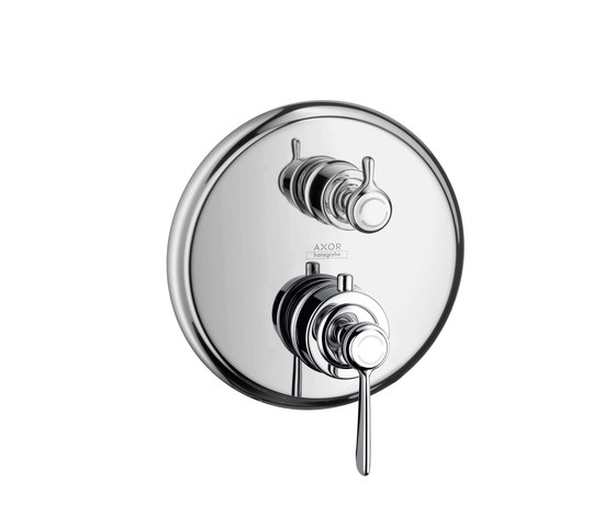 AXOR Montreux Thermostatic mixer for concealed installation with shut-off/ diverter valve and lever handle by AXOR | Shower controls