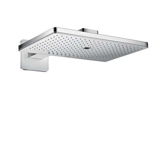 AXOR Shower Collection Overhead shower 460 / 300 3jet with shower arm and softcube escutcheons by AXOR   Shower controls