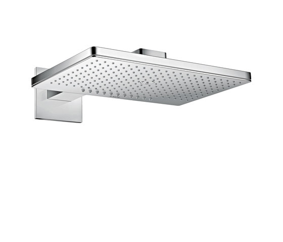 AXOR Shower Collection Overhead shower 460 / 300 2jet with shower arm and square escutcheons by AXOR | Shower controls