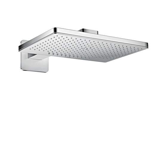 AXOR Shower Collection Overhead shower 460 / 300 2jet with shower arm and softcube escutcheons by AXOR | Shower controls