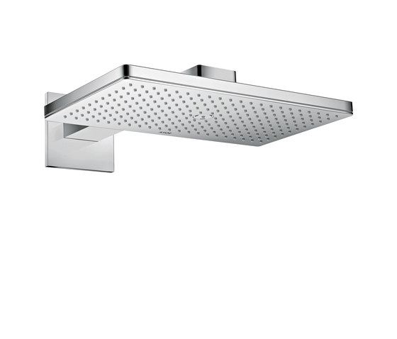 AXOR Shower Collection Overhead shower 460 / 300 1jet with shower arm and square escutcheons by AXOR | Shower controls