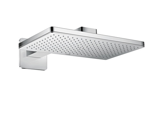 AXOR Shower Collection Overhead shower 460 / 300 1jet with shower arm and softcube escutcheons by AXOR | Shower controls