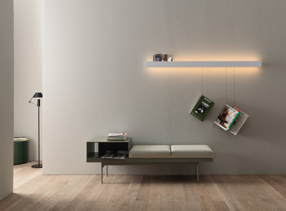 Groove | barra by CACCARO | Illuminated shelves