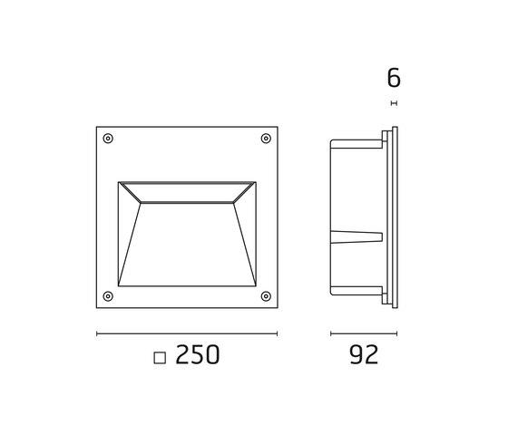 Alfia Mid-Power LED / Vetro Sabbiato di Ares   Lampade outdoor parete
