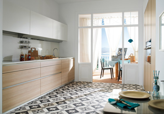 LINE-E Ivory Ash by Santos | Fitted kitchens