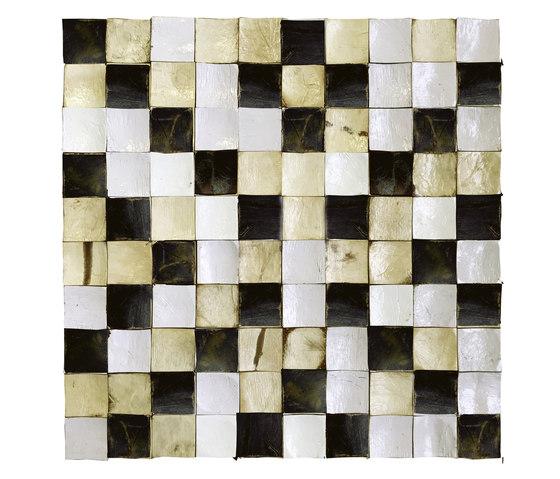 Coco Shells | Camarines RM 942 02 by Elitis | Coconut mosaics