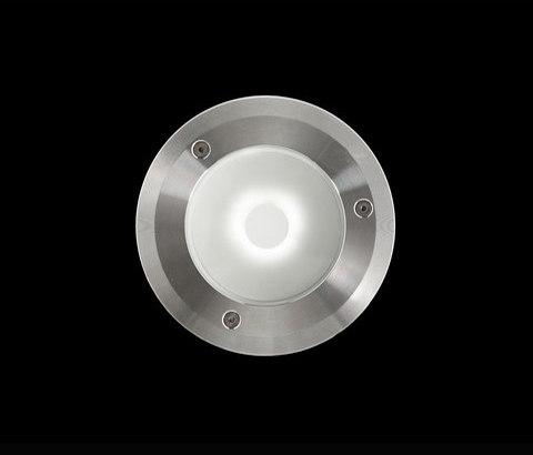 Chiara Mid-Power LED / Ghiera in Acciaio Inox - Vetro Sabbiato - 24Vdc di Ares | Lampade outdoor parete