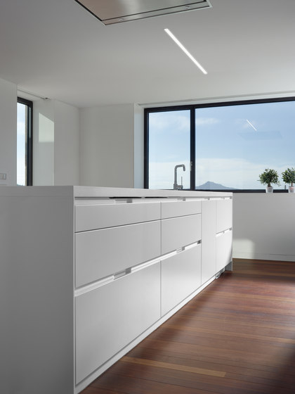 INTRA Exclusive opening system by Santos | Fitted kitchens