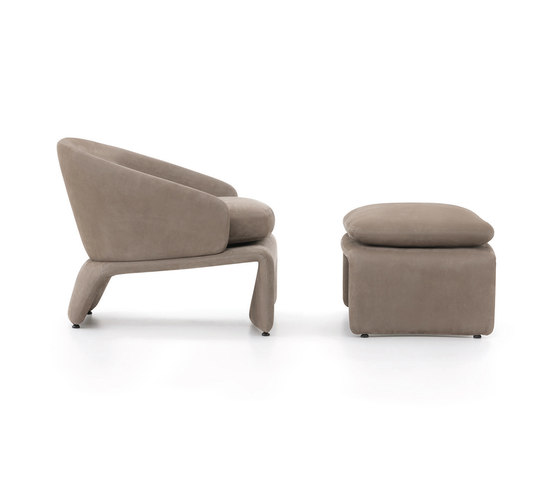 Halley Armchair with Ottoman de Minotti | Sillones