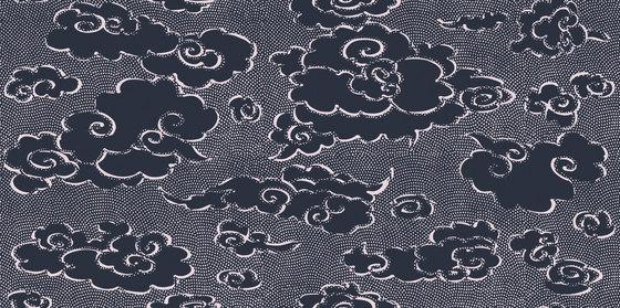 Washi | Contes de pluie et de lune RM 222 49 by Elitis | Wall coverings / wallpapers