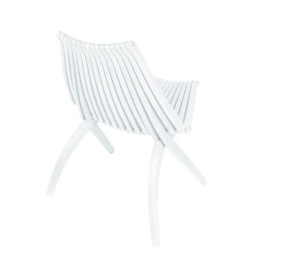 Lotos Chair | white by POLITURA | Garden chairs