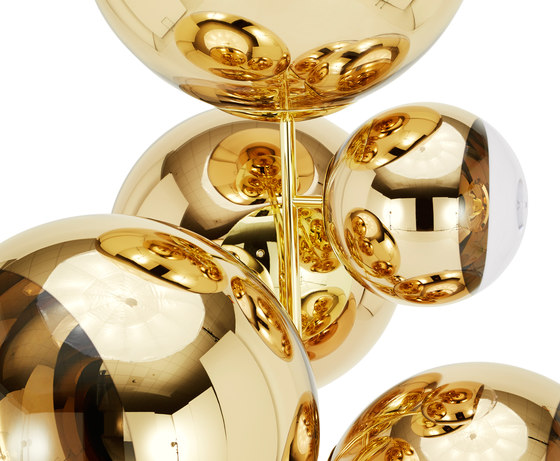 Mirror Ball Gold Stand Chandelier di Tom Dixon | Illuminazione generale