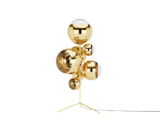 Mirror Ball Gold Stand Chandelier von Tom Dixon | Standleuchten