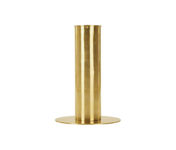 Tube Table Black Oak Top 900mm by Tom Dixon | Restaurant tables