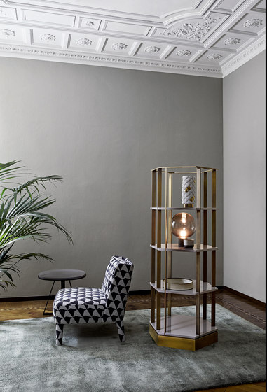 Shine | Sebastian Hexagonal bookcase by Meridiani | Shelving