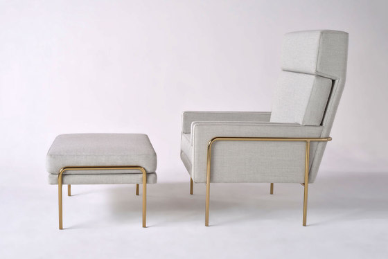 Trolley Lounge Chair + Ottoman by Phase Design | Armchairs