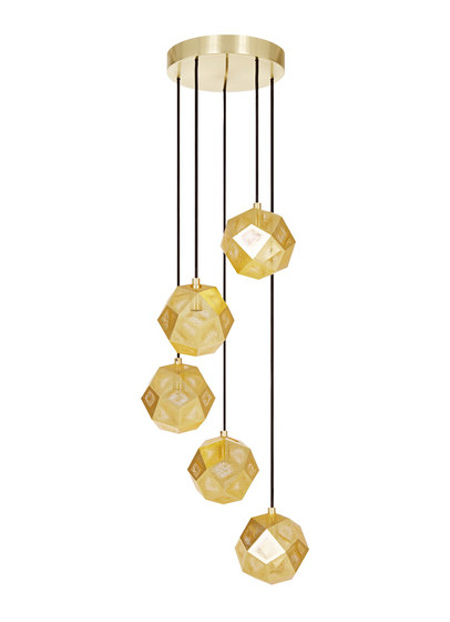 Etch Mini Chandelier Brass de Tom Dixon | Iluminación general