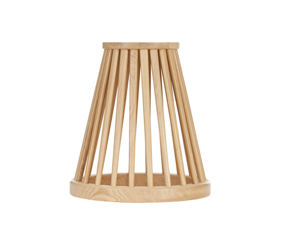 Fan Table Natural Base Black Oak Top 600mm by Tom Dixon | Side tables