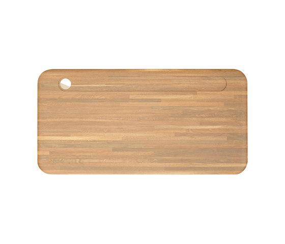 Slab Desk Natural Oak 600x1200 by Tom Dixon | Desks