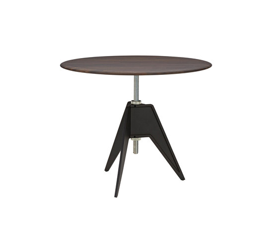 Screw Cafe Table Fumed Oak Top 900mm di Tom Dixon | Tavoli pranzo