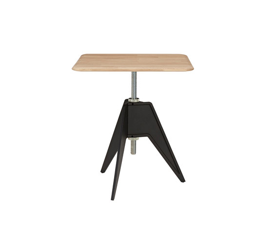 Screw Cafe Table Natural Oak Top 650mm by Tom Dixon | Coffee tables