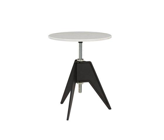 Screw Cafe Table White Marble Top 600mm de Tom Dixon | Mesas auxiliares