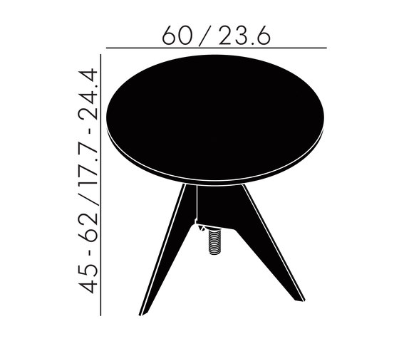 Screw Side Table Black Oak Top 600mm de Tom Dixon | Mesas auxiliares