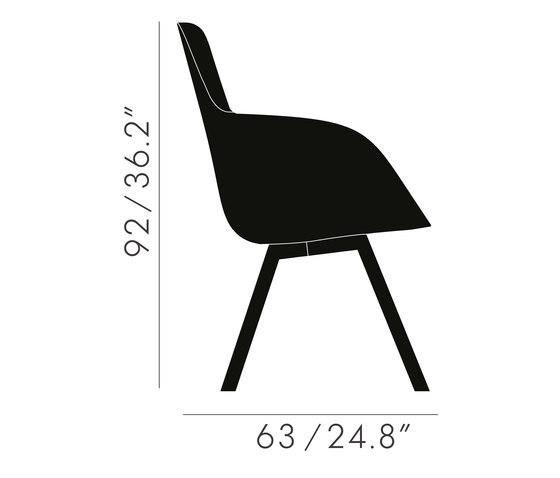 Scoop Chair High Back Brass Leg Tonus 4 de Tom Dixon | Sillas de visita