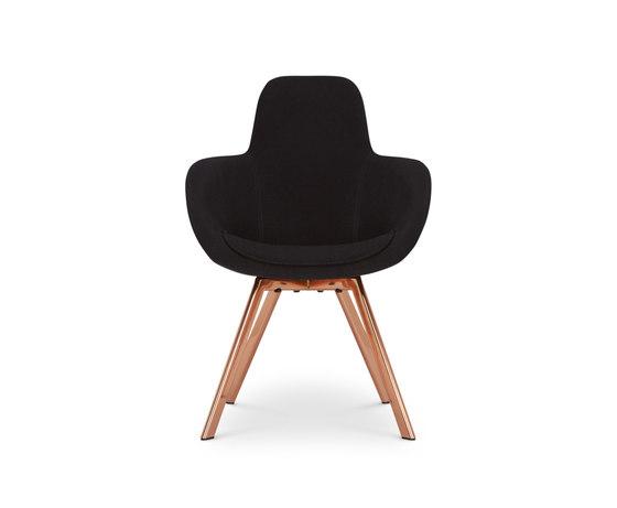 Scoop Chair High Back Copper Leg Tonus 4 di Tom Dixon | Sedie