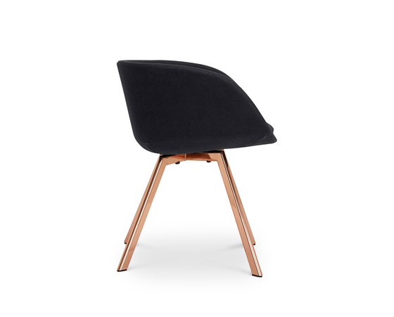 Scoop Chair Low Back Copper Leg Tonus 4 von Tom Dixon | Besucherstühle
