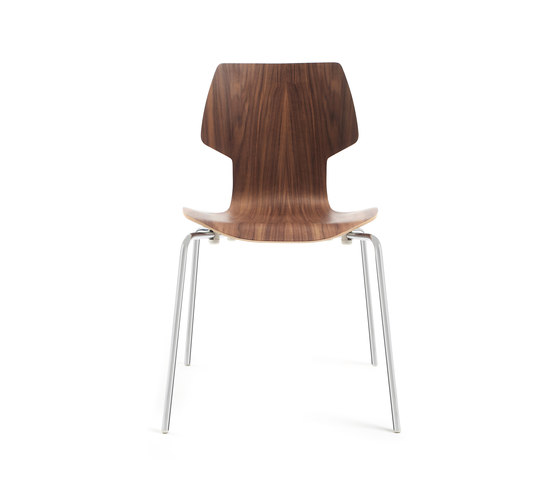 Gràcia | Stuhl Walnuss verchromt von Mobles 114 | Stühle