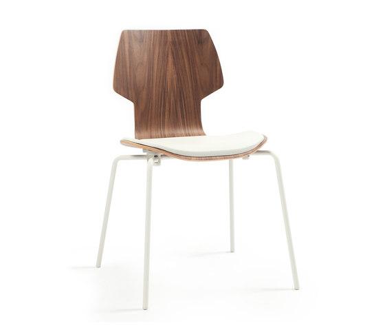 Gràcia | Stuhl Walnuss weiß von Mobles 114 | Stühle