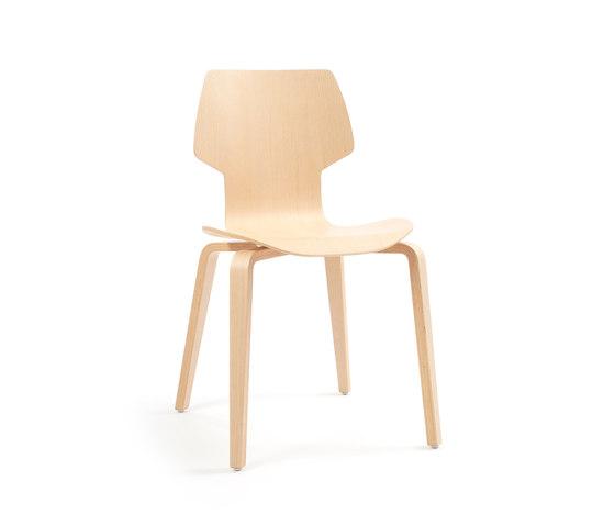 Gràcia | wood oak by Mobles 114 | Chairs