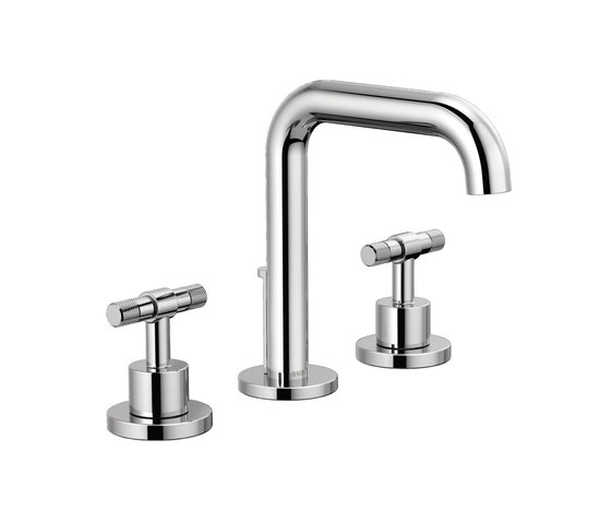 Widespread Lavatory with High Spout and T-Lever Handles by Brizo | Wash-basin taps