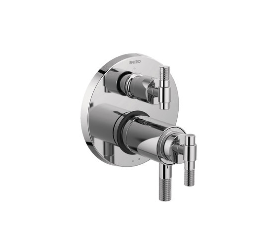 TempAssure Thermostatic Valve with Integrated 3-Function Diverter and T-Lever Handle by Brizo | Shower controls