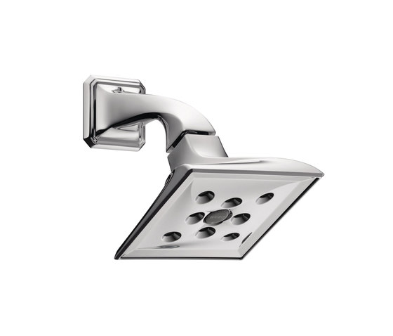 Raincan Showerhead with H2Okinetic® Technology by Brizo | Shower controls