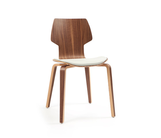 Gràcia | wood walnut by Mobles 114 | Visitors chairs / Side chairs