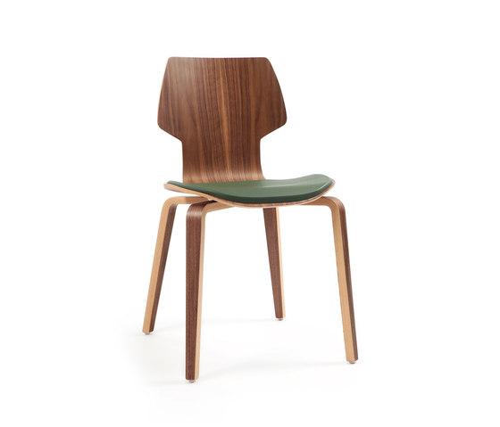 Gràcia | Holz Walnuss von Mobles 114 | Besucherstühle