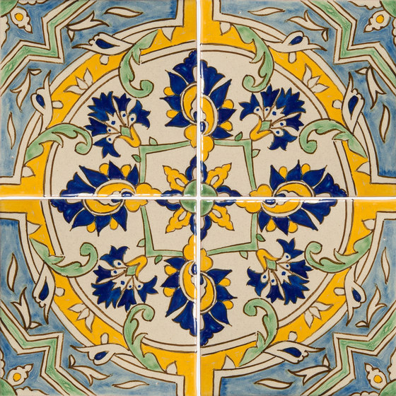 Classic Talavera | Amanecer en el Jardín 4-Piece Pattern de Tango Tile | Carrelage céramique