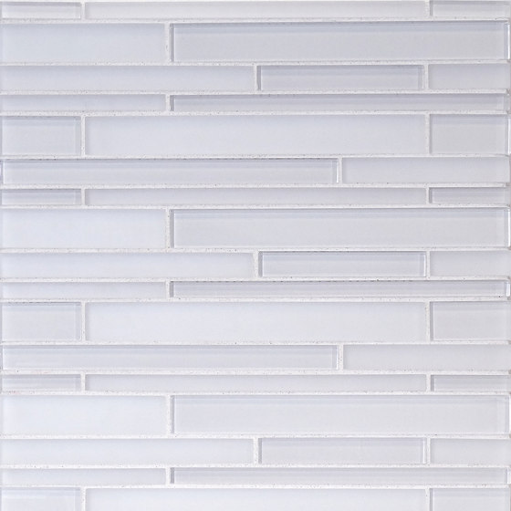 The Tile District | Interlocking Stix-Super White and Frosted Glass Combination di Tango Tile | Mosaici vetro