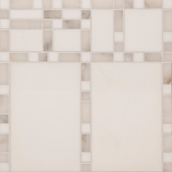 Marble Mosaics | Boogie Woogie Ivories by Tango Tile | Natural stone tiles