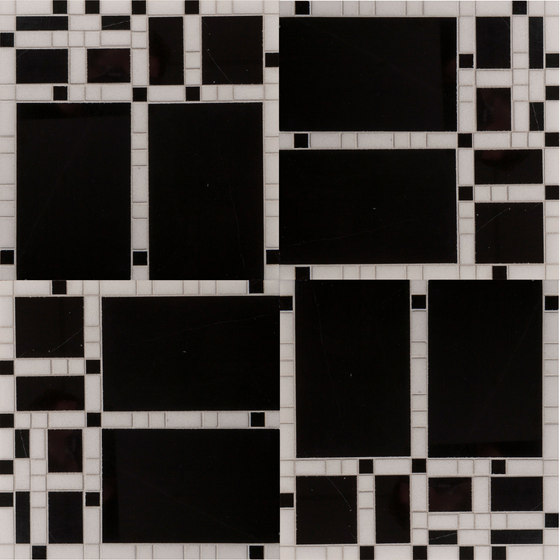 Marble Mosaics   Boogie Woogie Sharps & Flats de Tango Tile   Dalles en pierre naturelle