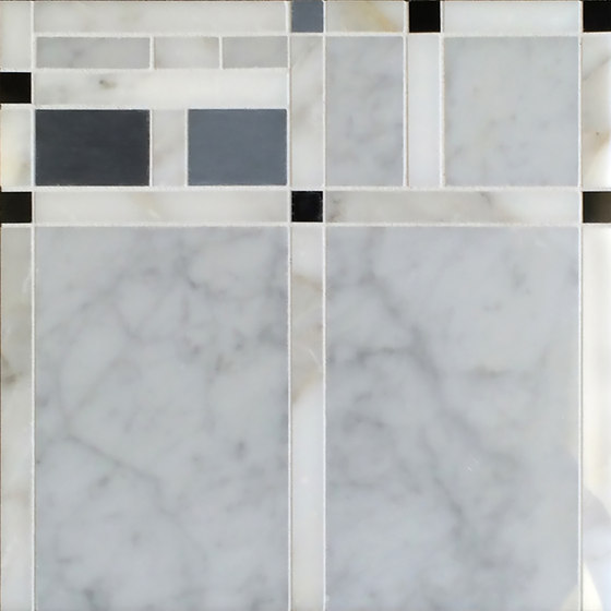 Marble Mosaics | Boogie Woogie  2 Drums by Tango Tile | Natural stone tiles