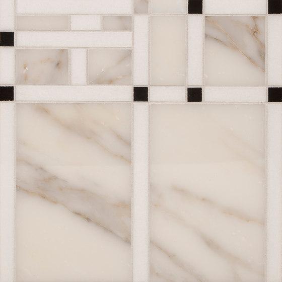Marble Mosaics | Boogie Woogie 2 Timpani de Tango Tile | Dalles en pierre naturelle