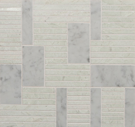 Marble Mosaics | Rhythm II Percussion by Tango Tile | Natural stone tiles