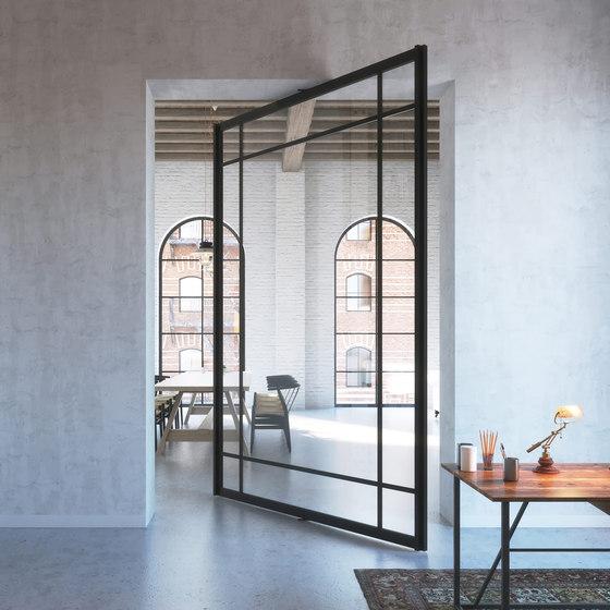 Portapivot 6530 XL | black anodized by PortaPivot | Glass partitions